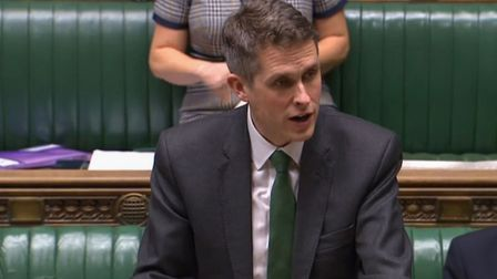 Education Secretary Gavin Williamson speaking in the House of Commons as he announced all UK schools