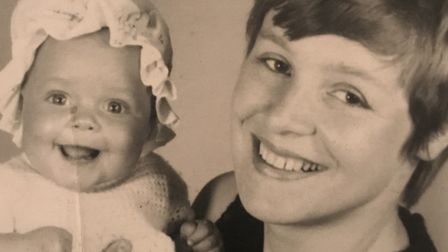 Stacia Briggs as a baby with her Mum, Jacqueline Briggs. Picture: Stacia Briggs