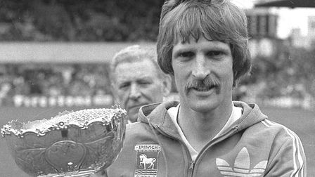 Frans Thijssen with his Town Player of the Year trophy in 1980 Photo: ARCHANT