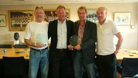 Frans Thijssen, second right, pictured with Kevin Beattie, David Sheepshanks and John Wark in 2008.