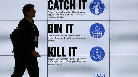 An NHS catch it, bin it, kill it sign Picture: Philip Toscano/PA Wire