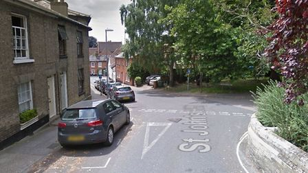 The fatal collision happened at the junction between St John's Hill and Castle Street in Woodbridge