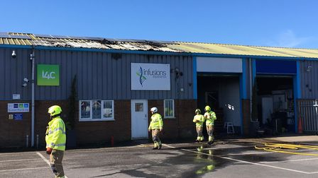 The fire broke out about 9.30am in Rougham, near Bury St Edmunds Picture: ARCHANT