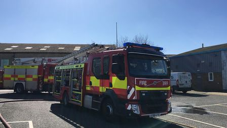 Six crews of firefighters arrived at the industrial estate to stop the fire and assess the damage ca