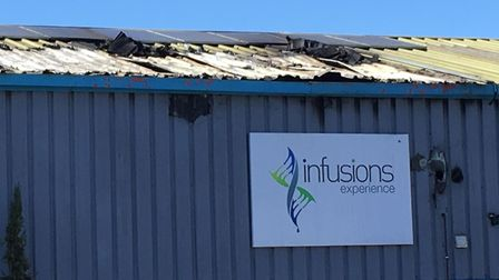 Six fire engines were called to the scene of the fire in Lundy Court, where an industrial unit was d