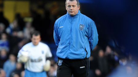 Ipswich Town caretaker manager Charlie McParland, pictured during his one match in charge, at Chelse