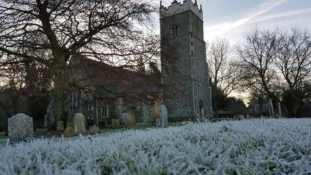 St Peter's Church Claydon on a frosty, chilly morning Picture: MARK NUNN/CITIZENSIDE