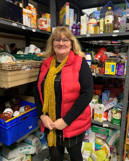 Amanda Bloomfield said the best way to help the foodbank in Bury St Edmunds is to donate cash rather