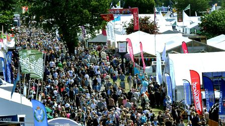 Crowds descending on the Suffolk Show Picture: SAA