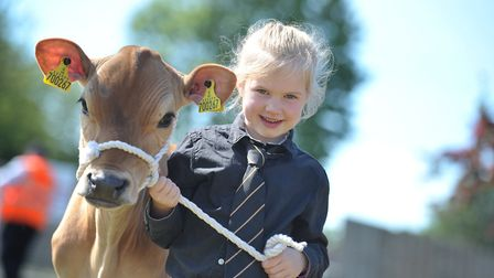 Young handler Charlotte Bolderston, aged 6 with Pippet Picture: SARAH LUCY BROWN