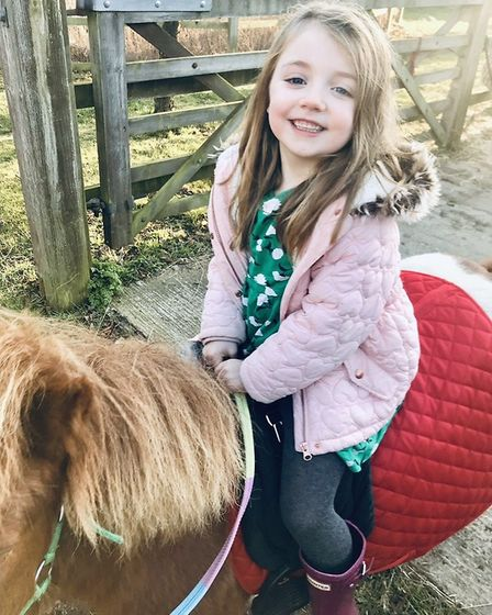 Vesper Cleaver with Pepsi the Shetland pony. Picture; NICKY CLEAVER