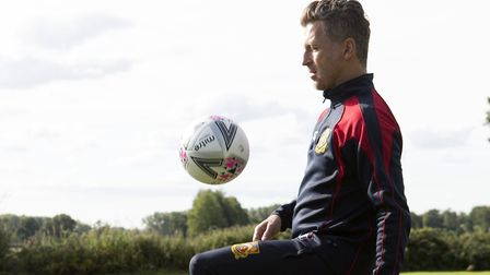 On the ball: Darren Eadie. Picture: Norfolk County Council.