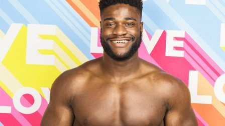 Ched Uzor from Love Island is finding his feet after leaving the villa last month. Picture: ITV
