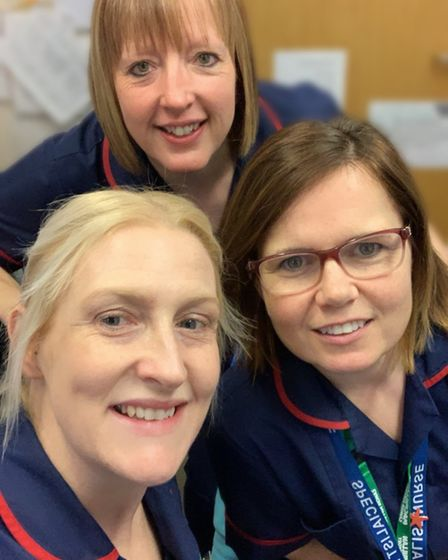 Charlotte Durrant, a Macmillan oncology colorectal clinical nurse specialist, and colleagues Debbie