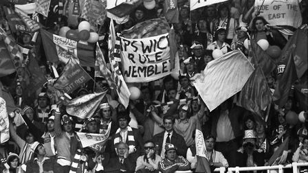 Town fans at Wembley in May '78..... Photo: ARCHANT