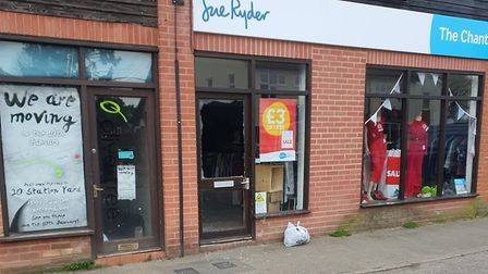 Police were called to the Sue Ryder branch in Needham Market on Friday morning Picture: SARAH EVANS