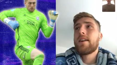 Ipswich Town goalkeeper Tomas Holy sent a message to the club's fans. Picture: ITFC