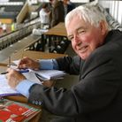 EADT chief sports reporter Tony Garnett in the Press Box at Derby County on the last day of the 2002