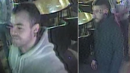 Police would like to speak to these two men Picture: SUFFOLK CONSTABULARY