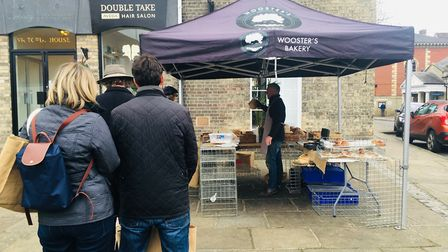 Desparately queuing for bread Picture: Charlotte Smith-Jarvis