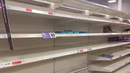 Customers have stripped supermarket shelves bare Picture: Charlotte Smith-Jarvis
