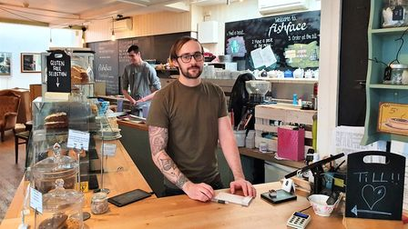 Alex Williams, manager of Fishface cafe in Ipswich, has seen a dramatic effect on business since the