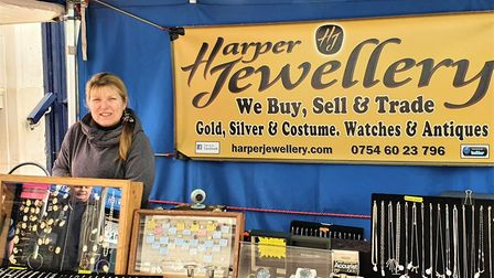 Annette Harper runs the jewellery stall on Ipswich Market and has noticed a massive drop in trade si