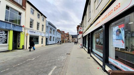 Museum Street in Ipswich is usually thriving but has now fallen quiet amid the coronavirus crisis. P