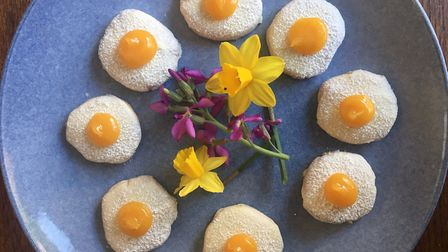Biscuits made with pea and rice flour Picture: Charlotte Smith-Jarvis