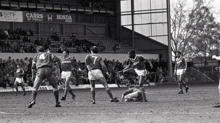 Dalian Atkinson in action for Middlesborough back in April 1988. Picture: OWEN HINES