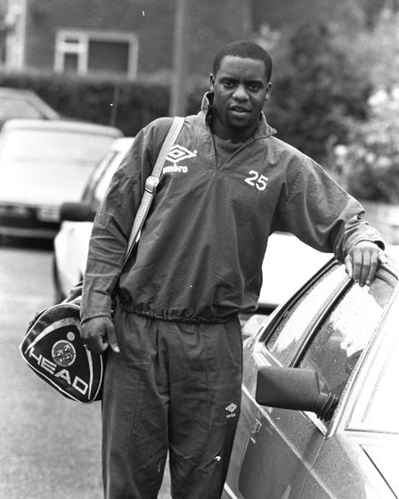 Dalian Atkinson pictured in 1989. Picture: OWEN HINES
