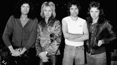 Queen in 1977: Brian May, Roger Taylor, Freddie Mercury and John Deacon. Their hit Don't Stop Me Now
