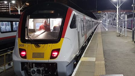 Greater Anglia has put its new Aventra train through its paces in south Essex. Picture: GREATER ANGL