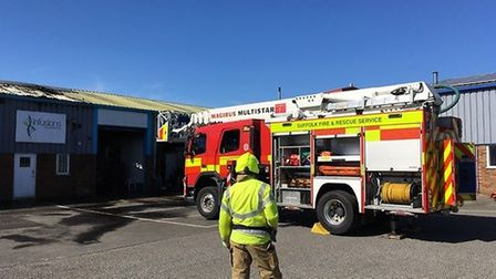 There has been a fire at Infusions, which is a supplier, restaurant and cookery school near Bury St