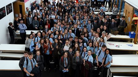 Year-11 students from Chantry Academy gathered for a final photo with staff as they said farewell to