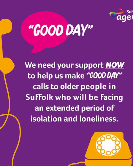 Age UK Suffolk are looking to raise thousands to help it assist the county's elderly Picture: AGE UK