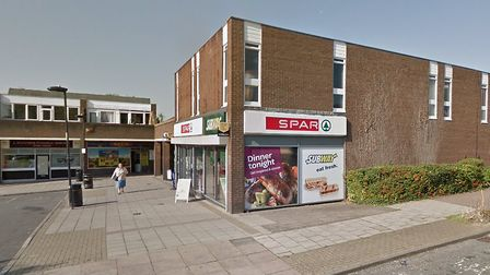 The man attempted to rob the Spar store in St Olaves Precinct, Bury St Edmunds. Picture: GOOGLE MAPS