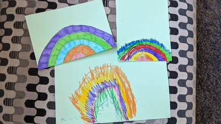 Many families have been decorating rainbows and popping them up in their windows to cheer people up