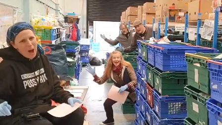 Colchester Foodbank has received more than 11,000 views on its 'sweet quarantine' video on Facebook.