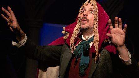 Murray Lachlan Young performing in The Mystery of the Raddlesham Mumps which has now been turned int