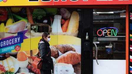 A woman wears a face mask in Ipswich Picture: SARAH LUCY BROWN