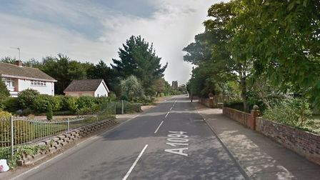 Emergency services were spotted at the scene in Victoria Road, Aldeburgh, where a man's body was fou