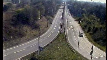 This part of the A14 which connects to Trimley is usually full of vehicles. Picture: TRAFFIC CAMERAS