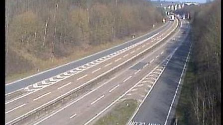 The approach to the Orwell Bridge in lockdown. Picture: TRAFFIC CAMERAS UK