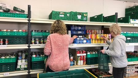 FIND have seen an increase in the number of families in need of food parcels. Picture: HANNA SMITH