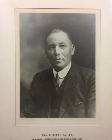 Farmer David Black of Bacton, near Stowmarket, the first chairman of the Suffolk branch of the Natio