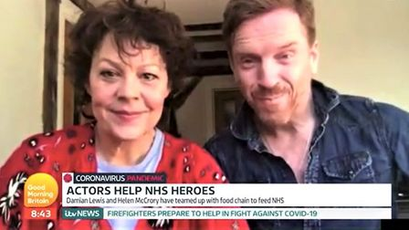 The thespian couple were talking on GMB on Friday March 27 about their campaign called FeedNHS in th