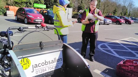 Volunteers with the Bury St Edmunds Rickshaw charity are a lifeline to those in isolation during the