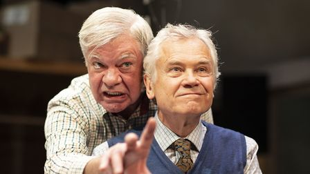 Matthew Kelly and David Yelland in The Habit of Art Picture: HELEN MAYBANKS