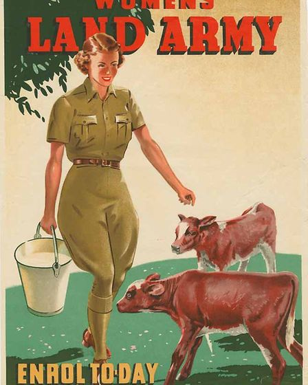 A recruitment poster for the Women's Land Army.